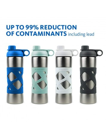 500ML STAINLESS STEEL INSULATED CLEAN WATER BOTTLE - WHITE