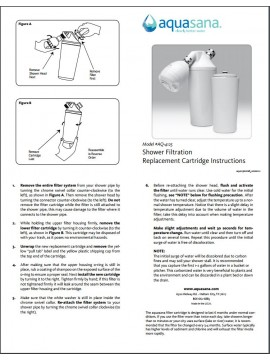 AQ-4125 SHOWER FILTER REPLACEMENT