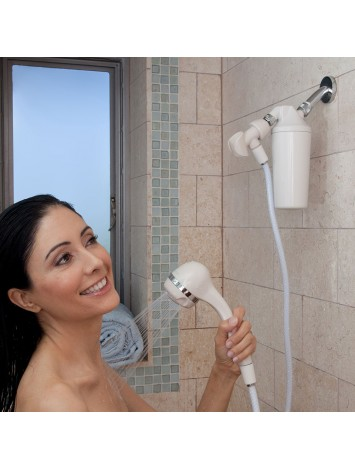 SHOWER FILTER & WHITE WAND